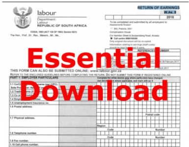 Essential download - Dept Labour - Return of Earnings